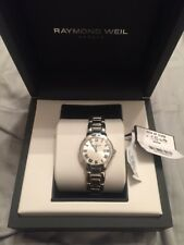 Raymond Weil Jasmine Silver Dial SS Quartz Ladies Watch 5229-ST-01659 $1350 WOW!