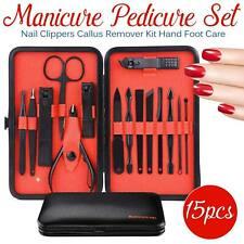 Men Women Manicure Pedicure Set Finger Toe Nail Clippers Scissors Grooming Kit