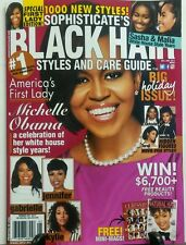 Sophisticates Black Hair Styles & Care Guide Dec Jan 17 Obama FREE SHIPPING sb