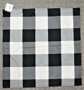 2 Pottery Barn Buffalo Check Pillow Covers Black & White NWT