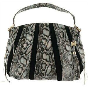 Aimee Kestenberg Tuscany Pebbled Leather Suede Hobo Handbag Sz L NWT