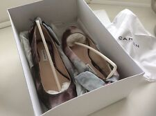 Carven Shoes Ballerina Flats Dusky Pink & Blue Bow New with Box Size UK 3