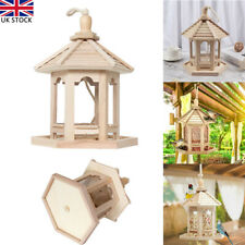 More details for traditional wooden bird table garden birds feeder feeding station free standing
