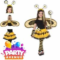 Kids Bumble Bee Fairy Accessories Wand Tutu Wings headband Fancy Dress