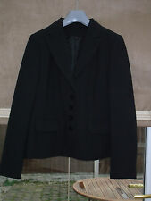 NEW QUALITY LADIES SMART BLACK BUSINESS OFFICE SUIT JACKET SIZE 16