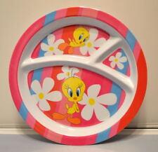 "TWEETY BIRD 8"" Plastic PLATE & 10"" BOWL Dishwater Safe Gibson Looney Tunes WB"