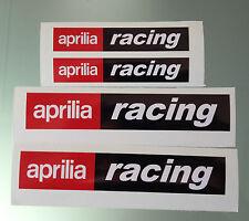 Set of 4 Aprilia Racing decal / stickers (2 Large & 2 Medium)