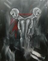 Original Acrylic Painting on a 11x14 inch Canvas, Sold by Artist. Dark art