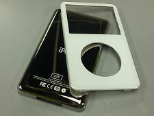 New White Front Faceplate + 2TB Back Cover Housing for iPod 5th 5.5 Gen Video