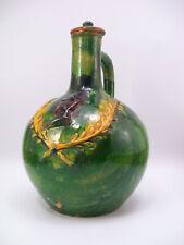 Andrew Jackson Green Glaze 19th Century Pottery Jug