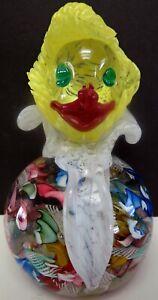 Murano Art Glass Avem? Clown Paperweight Large