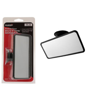 CAR INTERIOR WIDE REAR VIEW MIRROR SUCTION CUP ADHESIVE DRIVING GLASS