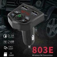 Bluetooth 5.0 FM Transmitter Handsfree Car Kit Adapter U Wir F5X3 MP3 C9I4 W7V6