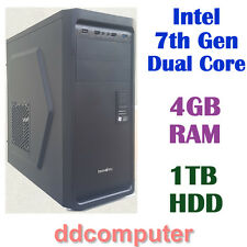 Intel 7th-Gen Celeron Dual Core CPU 4GB DDR4 1TB HDMI Desktop PC Computer