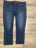 "American Eagle Jeans Women's Size 10 x 26 ""Artist"" Stretch Blue Denim GREAT GUC"