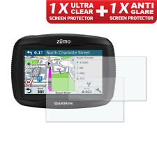 GARMIN ZUMO 390LM  Dashboard Screen Protector 1 x Ultra Clear & 1 x Anti Glare