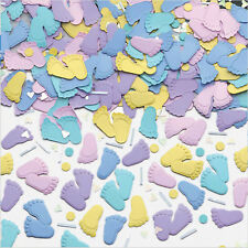Cute Feet Baby Shower Christening Table Confetti Sprinkles Decorations Boy Girl
