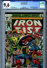 Iron Fist #12 (1977) Marvel CGC 9.6 White Captain America