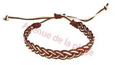 Bracelet coton tressé bicolore, bracelet mode pas cher, accessoire mode NEUF