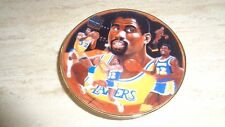 "1987 Gartlan Basketball Mini Plate - 3 1/4"" - Magic Johnson - Los Angeles Lakers"