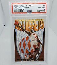 1996 SkyBox E - X2000 Michael Jordan Net Assets Die cut insert card#8 PSA 8