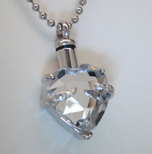 HEART CREMATION URN NECKLACE APRIL CREMATION JEWELRY URN NECKLACE MEMORIAL URNS