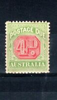 Australia 1909 4d Postage Due MH