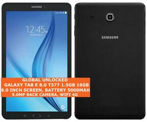 SAMSUNG GALAXY TAB E 8.0 T377 16gb Quad-Core 5.0mp 8.0 Inch WIFI 4g Android Tab