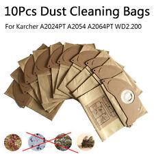 10Pcs Vacuum Cleaner Dust Bag Paper For Karcher A2024PT A2054 A2064PT WD2.200