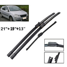 "Front Rear Windscreen Wiper Blades Fit For VW Polo 9N3 Hatchback 06-09 21""19""13"""