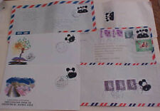 CHINA  PR  COVER 6 DIFF. WITH PANDA STAMPS 4 TO USA