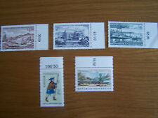 AUSTRIA,1971 INDUSTRIES,1964 STAMP DAY,1966 STAMP DAY,5 VALS,U/MINT,EXCELLENT.