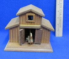 Barn Music Box Musical Figurine Door Opens Horse Wood Wooden Old McDonald