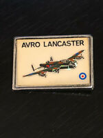 Vintage Collectible Avro Lancaster WWII Bomber Colorful Metal Pinback Lapel Pin