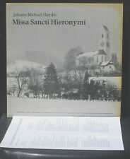 Johann Michael Haydn  Missa sancta Hieronymi Hans Bopp Suhr 29/10/72 LP M, CV EX