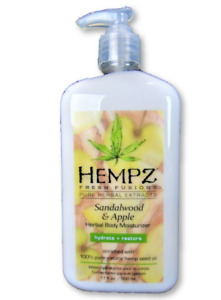 Hempz Sandalwood & Apple Herbal Body Moisturizer Fresh Fusions Lotion 17 oz