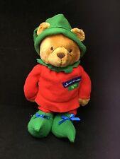 """Santas Workshop Elf #25 Bear Brown Red Green Treat Pouch Hallmark Plush 16"""" Toy"""