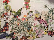 90 Pretty Paper Butterfly and Botanical #4 Junk Journals Scrapbooking Collage