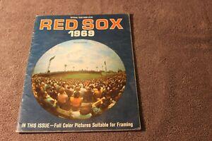 1969 Boston Red Sox MLB baseball yearbook