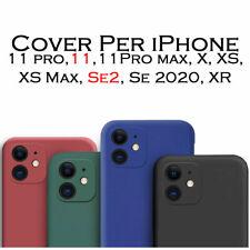 Cover Custodia Per iphone 11 Pro Max X XS XS Max SE2 SE 2020 XR silicone gel Tpu