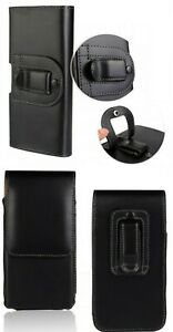 Brand New Black Universal Belt Clip Loop Leather Case Pouch For Mobile Phones