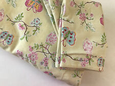 Pottery Barn Kids Full Queen Duvet Set w 2 Standard Shams Yellow Butterflies