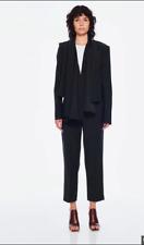 TIBI New York black tailored suiting pants trousers crop