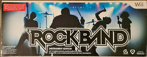 NINTENDO WII ROCKBAND INSTRUMENT EDITION GUITAR DRUMS MICROPHONE VIDEO GAME NEW