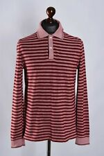 MEN'S HUGO BOSS STRIPED CLASSIC LONG SLEEVE POLO SHIRT SIZE M GENUINE