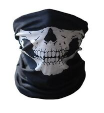 Black Microfiber Seamless Skull Face  Face Mask Balaclava Tube 7+ functions X2