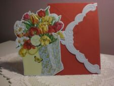 Carol's Rose Garden - Thank you card - a bag of Tulips and Daisies on the cover