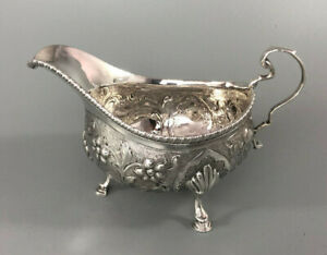 George III Silver Sauce Boat Solomon Royes London 1819 170g ABZX