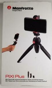 Manfrotto PIXI Plus Tripod Table Top Hand Held Camera iPhone Smartphone GoPro