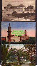 118371 3 AK Liegnitz Schlesien Seminar Präparandenanstalt 1921 Schloß 1917 Park